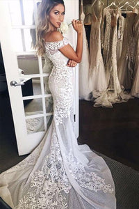 Trumpet/Mermaid Lace Floor-Length Sweetheart Wedding Dresses