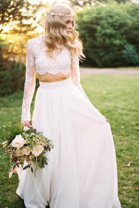 Lace Long Sleeves Wedding Dresses