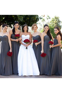 Dramatic Sleeveless Empire Chiffon Sweetheart Bridesmaid Dresses