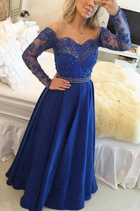 Enthusiastic Full/Long Sleeve Bateau Chiffon Covered Button Prom Dresses