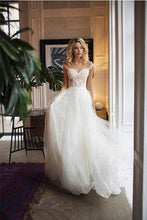 Exquisite A-Line Sweetheart Lace Bodice Tulle Wedding Dresses