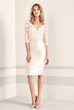 Sheath Half Sleeves V-neck Mother of the Bride Dresses