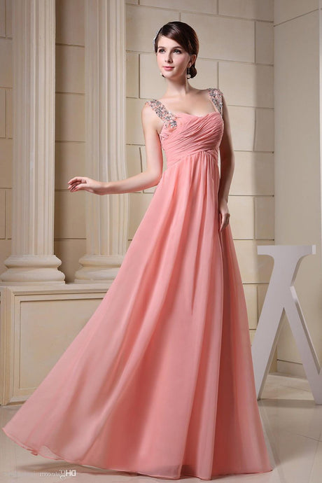Lovely Beaded Sweetheart Sleeveless Long Evening Dresses