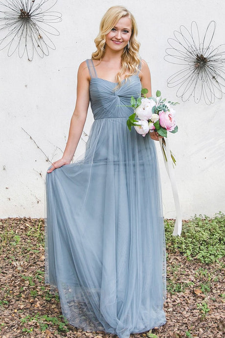 Amazing Chic Tulle Bridesmaid Dresses with Sheer Illusion Sleeves