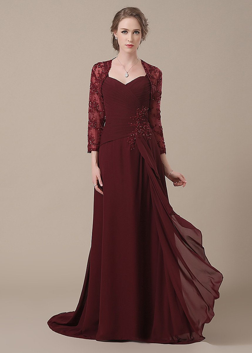 Appealing Chiffon Floor-length Sweetheart Mother of the Bride Dresses