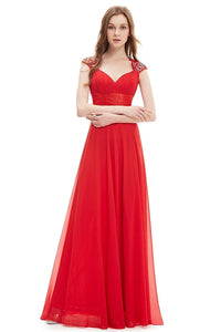 OKdress Chiffon Long Red Formal Prom Dress