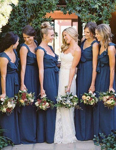 Stylish V-neck Natural Chiffon Bridesmaid Dresses