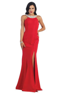 Red Long Prom Dresses Evening Party Formal Gown