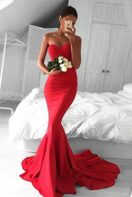 Strapless Trumpet/Mermaid Sweetheart Sleeveless Sweep Train Prom Dress