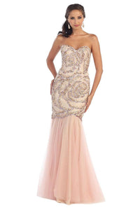 Pearl Pink Charming Mermaid Formal Prom Dress For Sale