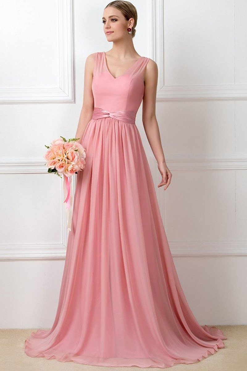 Spring Elegant A-line Floor Length Bridesmaid Dresses