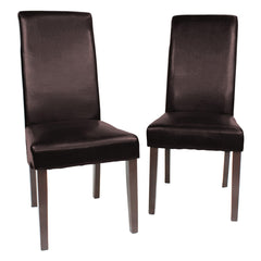 Swiss Wooden Dining Chairs Brown 2x