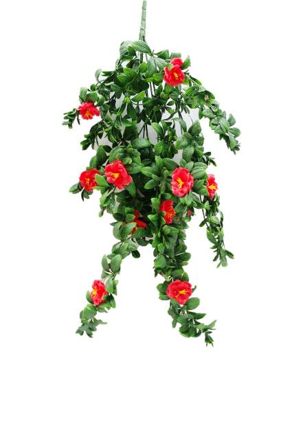 Hanging Red Rose Stem UV 85cm