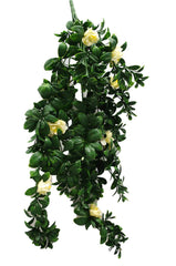 Hanging White Rose Stem UV 85cm