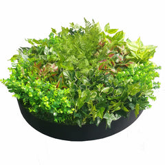 Artificial Green Wall Disk Art 80cm - Mixed Fern
