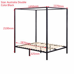 4 Four Poster Double Bed Frame
