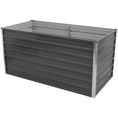 Raised Garden Bed 160x80x77 cm Galvanised Steel Grey