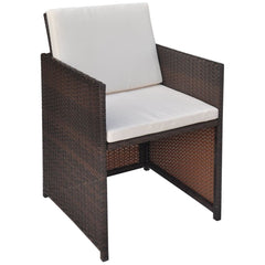 Outdoor Dining Chairs 2 pcs Brown 52x56x85 cm Poly Rattan