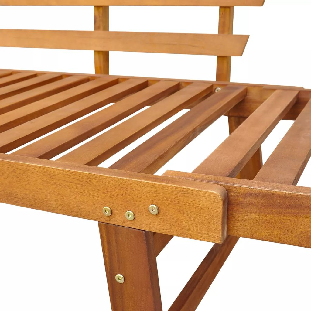 Outdoor Sun Bed/Garden Bench Solid Acacia Wood 190x66x75 cm