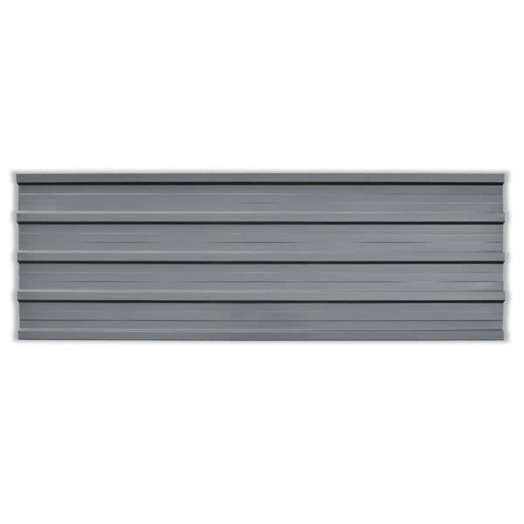 Roof Panels 12 pcs Galvanised Steel Grey