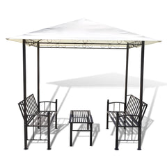 Garden Pavilion with Table and Benches 2.5x1.5x2.4 m