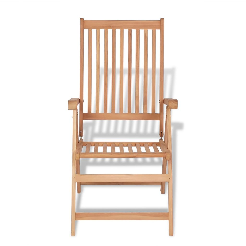 Reclining Garden Chairs 2 pcs Teak