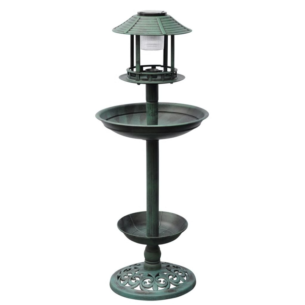 Bird Bath/ Feeder with Solar Light