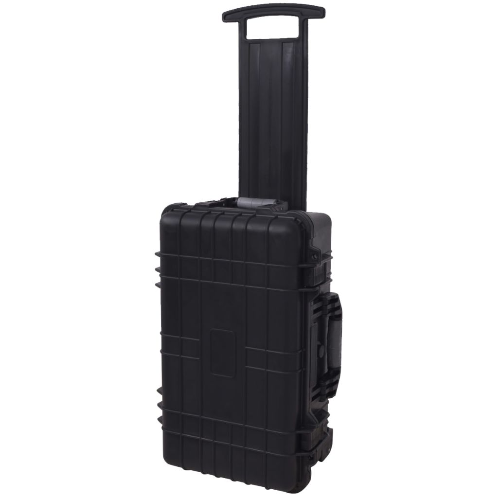 Wheel-equipped Tool/Equipment Case with Pick & Pluck