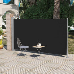 Patio Terrace Side awning 160 x 300 cm Black
