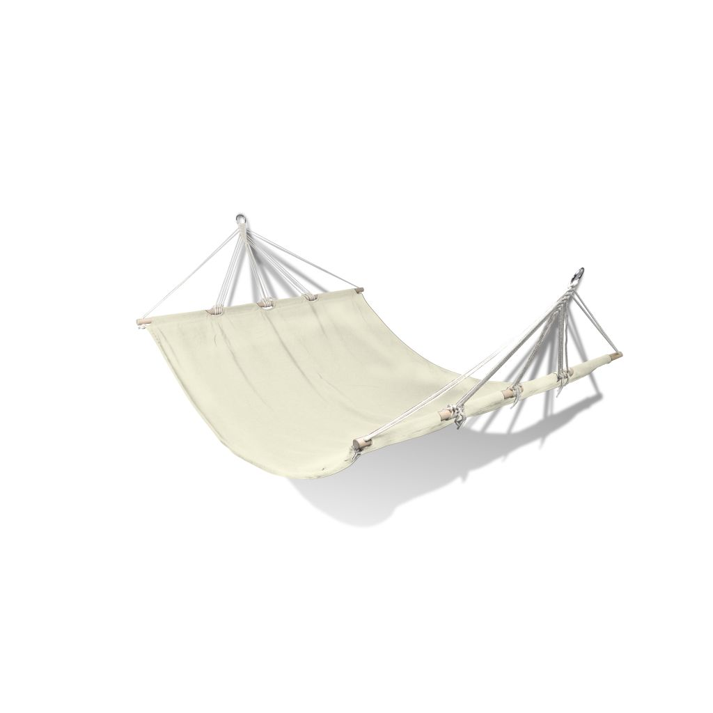 Hammock with Bar 210 x 150 cm Cream