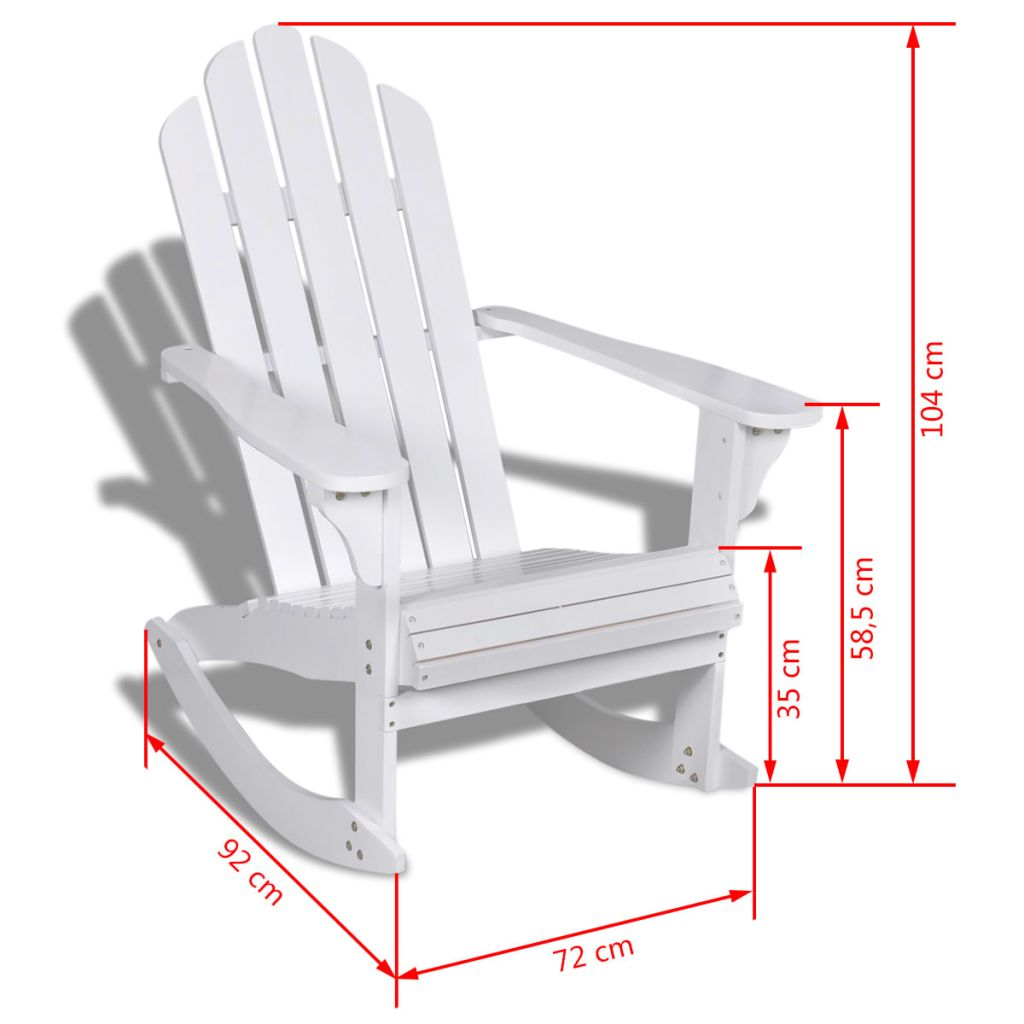 Wood Rocking Chair White