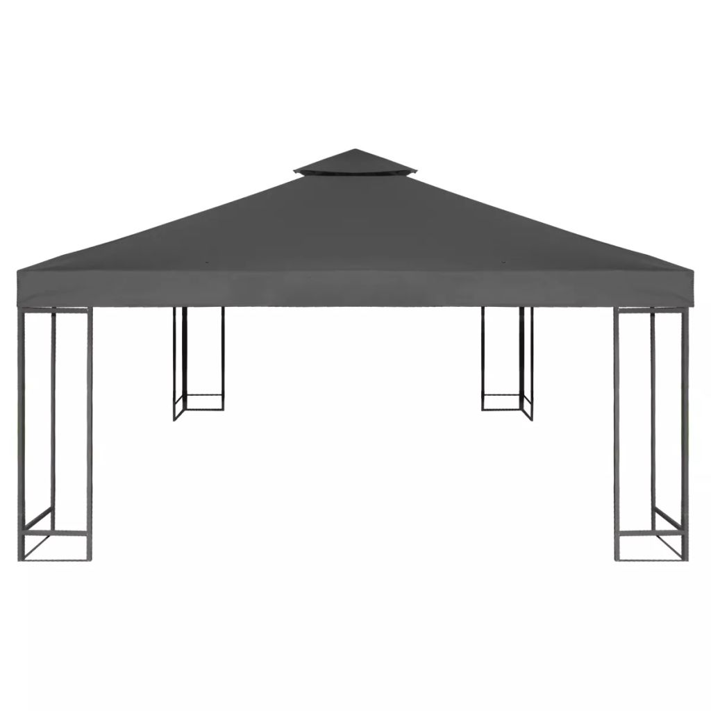 Water-proof Gazebo Cover Canopy 310 g / m² Dark Grey 3 x 3 m