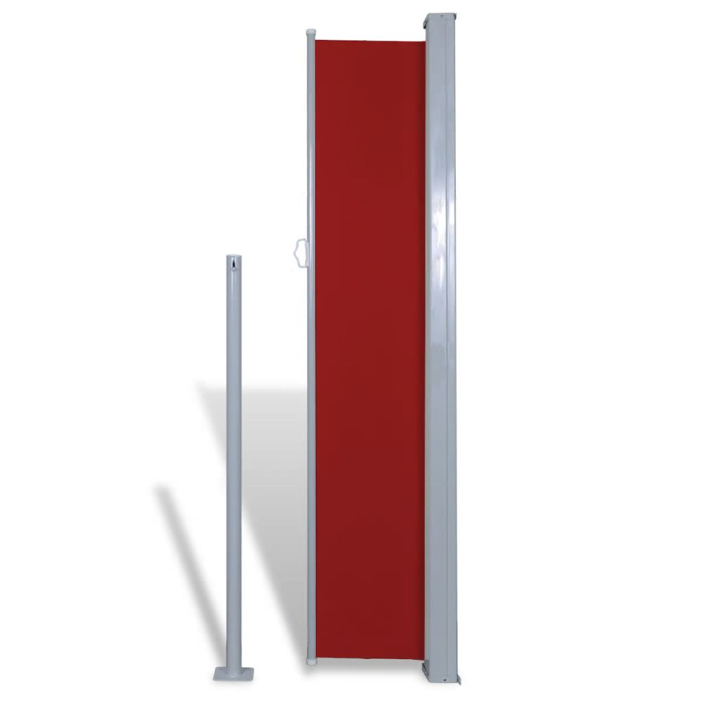 Patio Terrace Side Awning 160 x 300 cm Red
