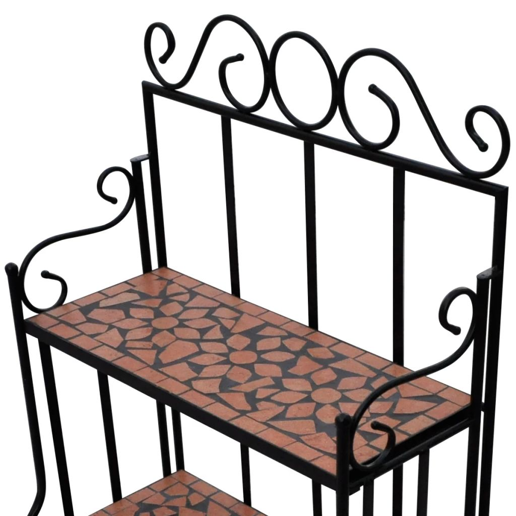 Plant Stand Plant Display Terracotta Colour Mosaic Pattern