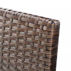 Outdoor Sofa Set Nine Pieces Brown Poly Rattan