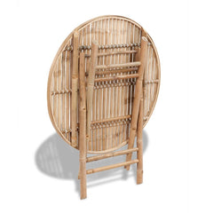 Outdoor Dining Set 5 Pieces Bamboo Foldable