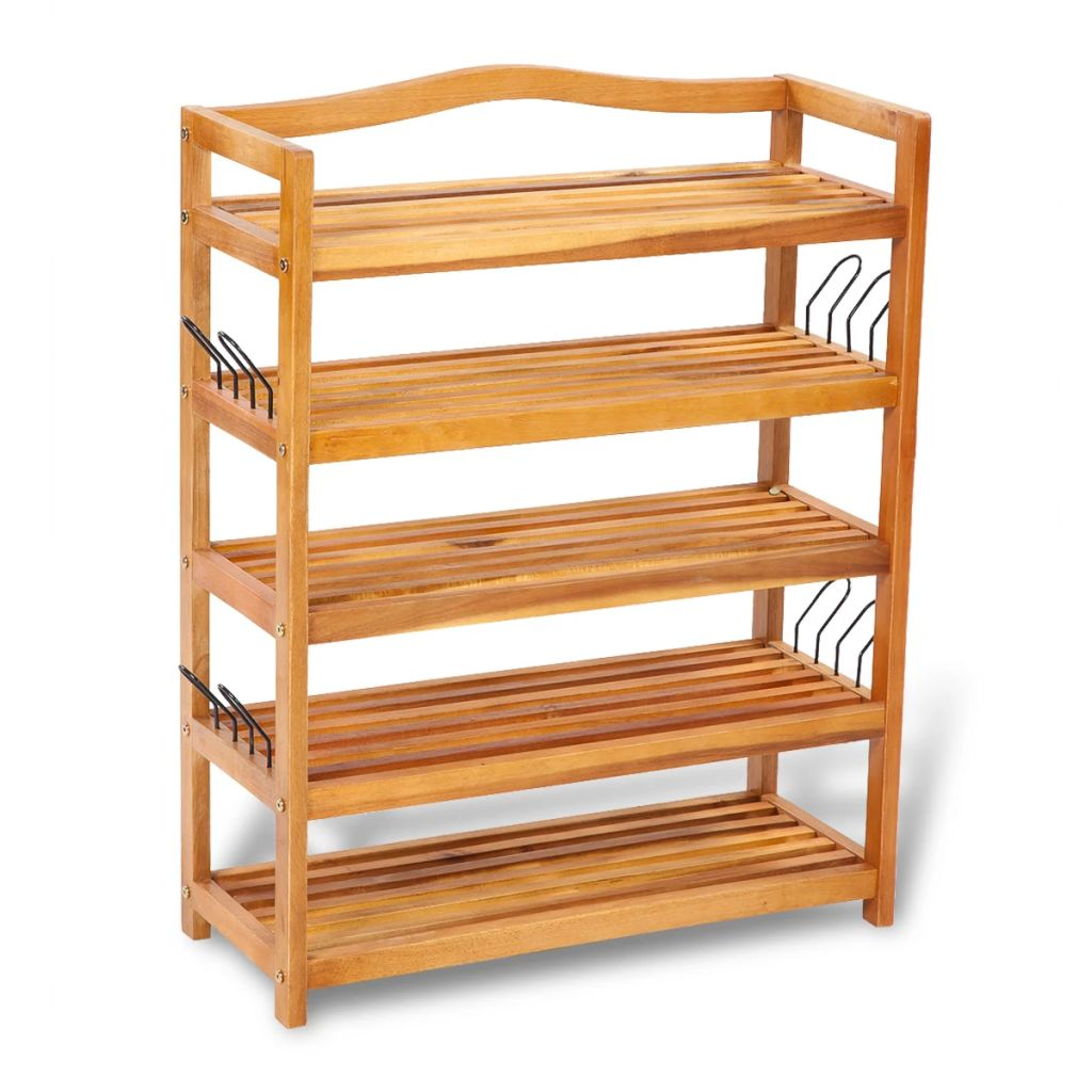 Wooden 5-tier Shoe Shelf