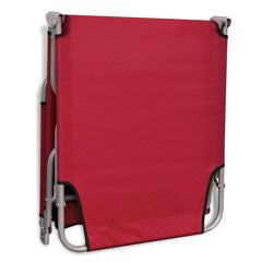 Foldable Sunlounger with Adjustable Backrest Red