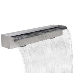 Rectangular Waterfall Pool Fountain Stainless Steel 60 cm