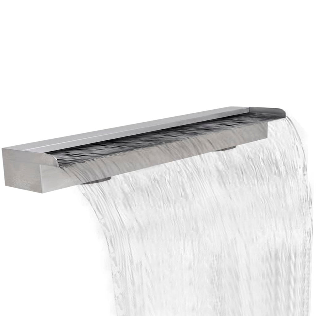 Rectangular Waterfall Pool Fountain Stainless Steel 150 cm