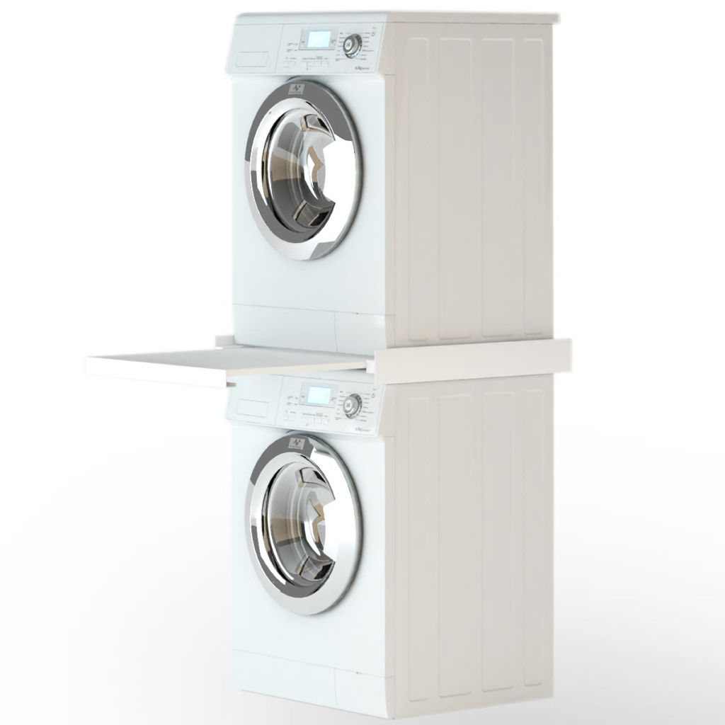 Washing Machine Stacking Kit with Pull-Out Shelf