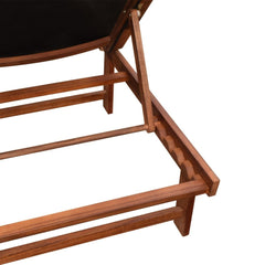 Sunlounger with Table Acacia Wood