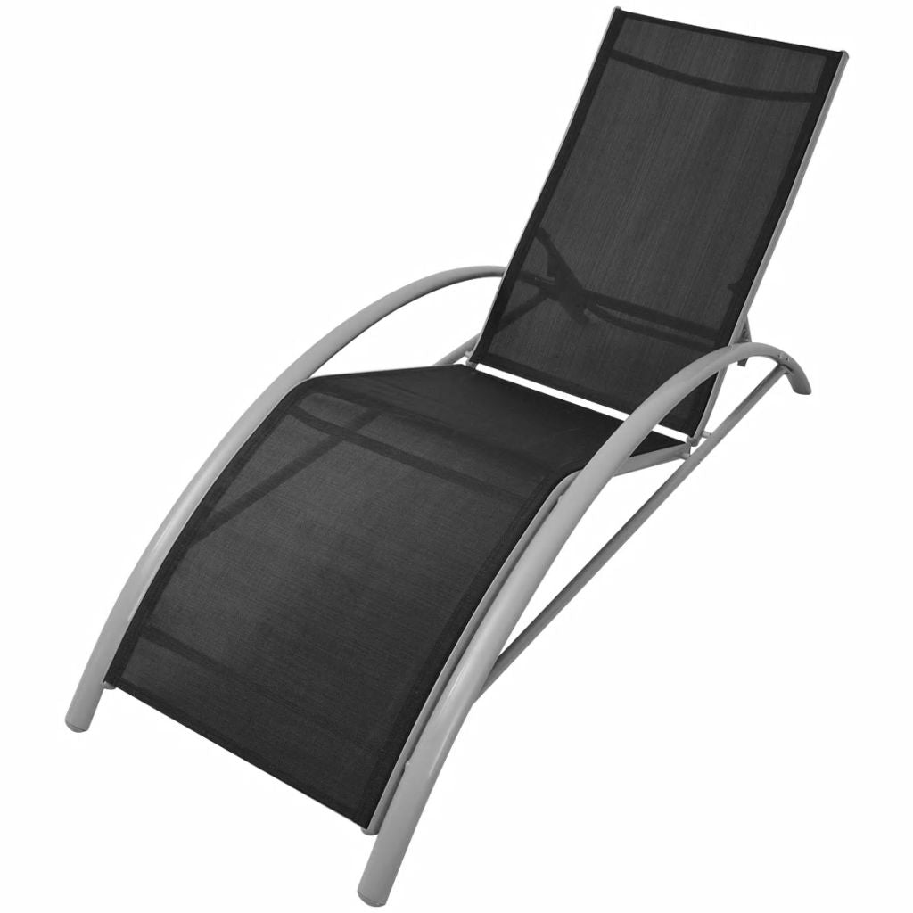 Sunlounger Set 3 Pieces with Umbrella Aluminium