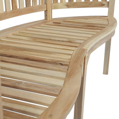 Teak Banana-Shaped Bench with 3 Seats 151 cm