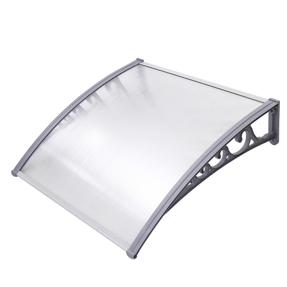 Instahut DIY Window Door Awning Transparent 1 x 1M