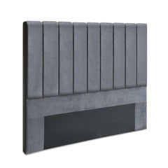Artiss Queen Size Fabric Bed Headboard - Grey