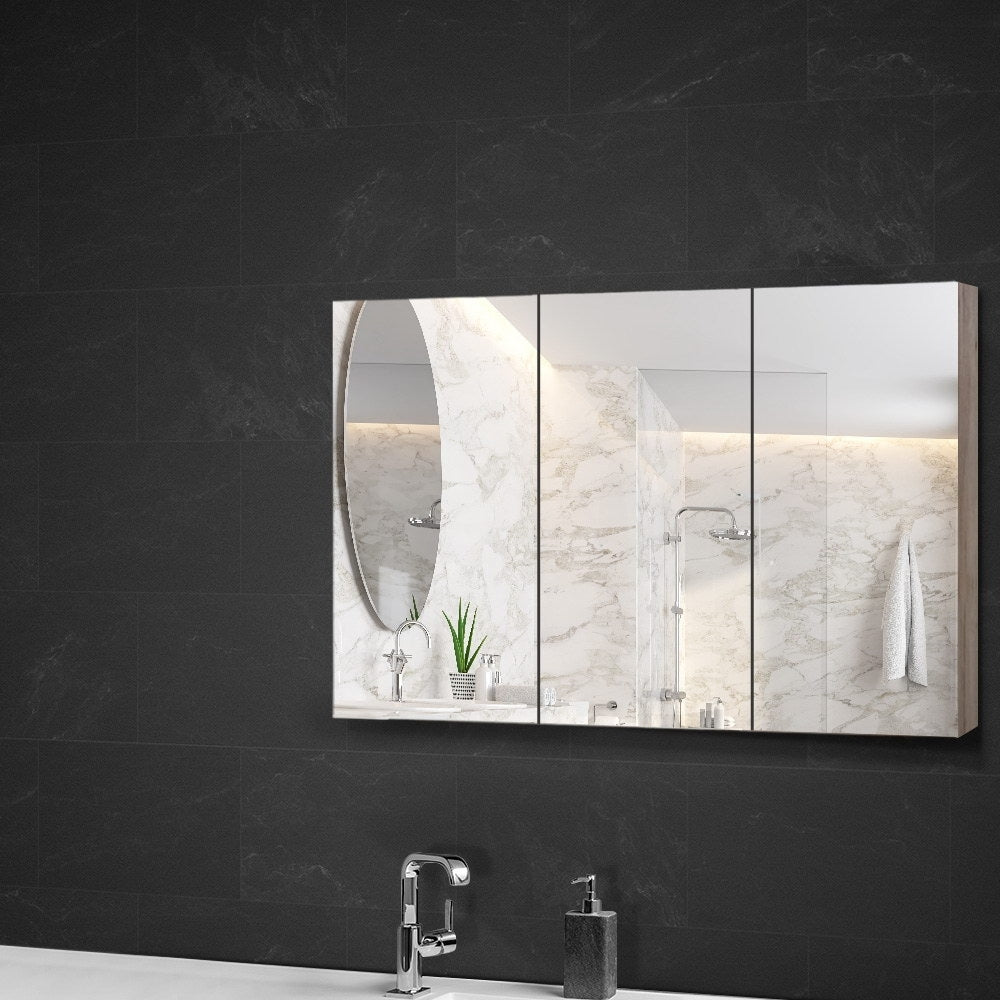 Cefito Bathroom Vanity Shaving Mirror Cabinet 1200MM x 720MM Pencil Edge Natural