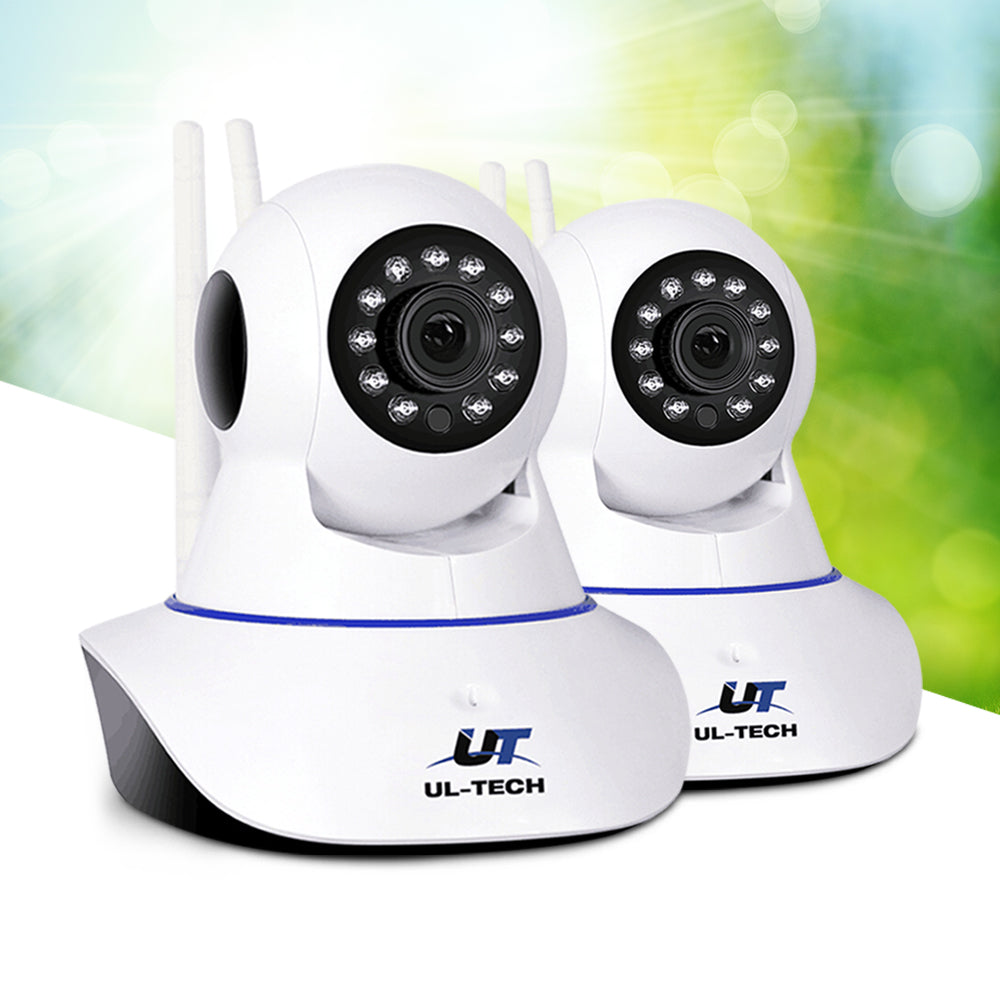 UL Tech Set of 2 1080P IP Wireless Camera - White