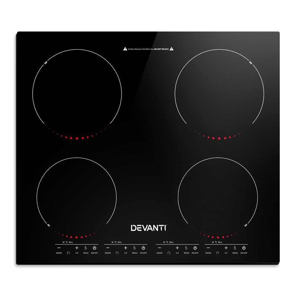 Devanti Induction Cooktop 60cm Electric Ceramic Cooker 4 Burner Stove