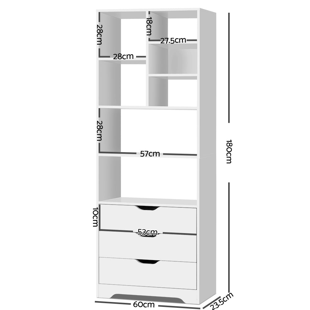 Artiss Display Drawer Shelf - White